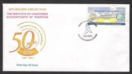 PAKISTAN 2011 ICAP FDC ERROR Wrong Postmark Of HIV Aids