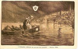 INONDATIONS 1926- ASSOCIATION INFIRMIERES VISITEUSES DE BELGIQUE-RUE CAROLY-BRUXELLLES-illustr Ateur Alfred Bastien - Inondations