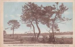 21556 Saint Aubin Du Cormier - Etang Et Plage De La Lande D´Ouée - 307 Horvais, Restaurant St Aubin Colorisée