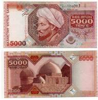 5000 TENGE 2001 Al FARABI Kazakistan BANCONOTA XF - Kazakhstan