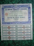 Action - France - Comptoirs Frigorifiques Dunkerquois - Dunkerque 1930 - Action De 100 F - Industrie