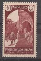 MA140-LA109TRI.Maroc.Morc Co MARRUECOS ESPAÑOL PAISAJES Y MONUMENTOS 1933/5.  (Ed 140**) Sin Charnela LUJO RARO - Islam
