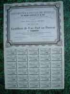 Action - France - Purification Des Corps Gras - Brevets Dangivillé Et Le Myé - Paris 1885 - Certificat 1 Part - Industrie