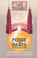 Carte Maximum Foire De Paris 1949 - France