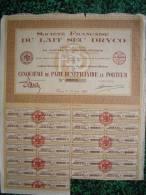 Action - France - Sté Francaise Du Lait Sec Dryco - Cinquieme De Part Beneficiaire - 1937 - Industrie