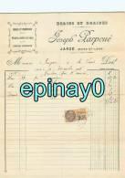 FACTURE - JARZE - Joseph LARPOUE - Grains Et Graines - Huiles Et Tourteaux - Fruits Verts Et Secs - Engrais Chimique - Frankrijk