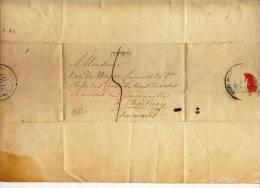 PRECURSEUR -GEND VERS CHARLEROY 1826 - GOUVERNEUR VAN OOST VLANDEREN + SIGNATURE - 1815-1830 (Dutch Period)