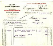 CHALONNES Sur LOIRE - Maine Et Loire - Eugène ROBIN . Grains Et Graines Fourragères - Agriculture