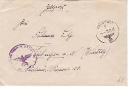 1943 22.11 FELDPOST B + FELDPOST 27085 (JUGOSLAVIA) - Covers & Documents