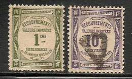 FRANCE - 1908-1925  TIMBRES-TAXE  Yvert # 43/4 - USED - 1859-1955 Gebraucht