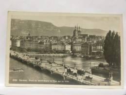 CPSM Suisse - Genève - Pont Du Mont-Blanc Et Vue Sur La Ville - GE Genève