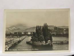 CPSM Suisse - Genève - ILE J.J. Rousseau Et Le Mont-Blanc - GE Genève