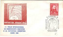 Lettre 1er Viaje A La Antartida Argentina (Antarctique), 18/1/1966 Avec 2 Cachets Ushuaia - Argentine