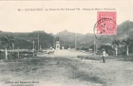Maurice, Mauritius. La Statue Du Roi Edoard Vll  - Champ De Mars A Port. Louis. Used 1925 - Mauritius