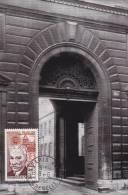 Carte-Maximum FRANCE N° Yvert 1349 (ESTAUNIE - 103 Rue De Grenelle) Obl Rue De Grenelle - 1960-69