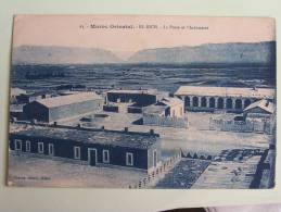 MAROC ORIENTAL   EL RICH   LE POSTE ET L INFIRMERIE  CPA 1926 DOS VERT - Ohne Zuordnung