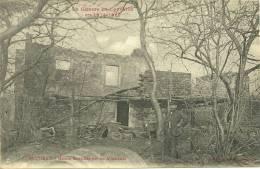 54 CPA Baccarat 2 Cartes Avenue De La Chapelle Animee Et Maison Incendiée - Baccarat