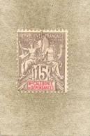 Nelle CALEDONIE : Type De 1892 (allégories) Dentelé 14 X 13 1/2 - - Neufs