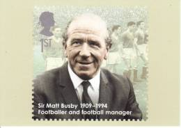 Eminent Britons  -  Sir Matt Busby  -  Stamp Card - Fútbol