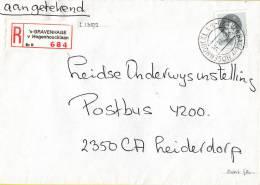 Nederland - Aangetekend/Recommandé Brief Vertrek ´s-Gravenhage - Aantekenstrookje ´s-Gravenhage V. Hogenhoucklaan 684 - Poststempel