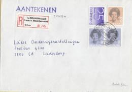 Nederland - Aangetekend/Recommandé Brief Vertrek ´s-Gravenhage - Aantekenstrookje ´s-Gravenhage Laan V. Meerdervoort 876 - Poststempel