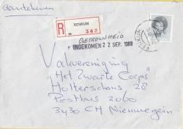 Nederland - Aangetekend/Recommandé Brief Vertrek Renkum - Aantekenstrookje Renkum 342 - Poststempel