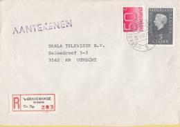 Nederland - Aangetekend/Recommandé Brief Vertrek ´s-Gravenhage - Aantekenstrookje ´s-Gravenhage De Gaarde 28 - Poststempel