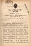 Original Patentschrift - G. Pearson In Old Charlton , 1905 , Torf - Brikettpresse , Brikett , Kohle , Presse !!! - Tools