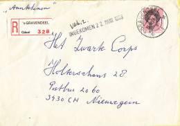 Nederland - Aangetekend/Recommandé Brief Vertrek ´s-Gravendeel - Aantekenstrookje ´s-Gravendeel 328 - Poststempel