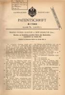 Original Patentschrift - W. Grafton In New Charlton , 1904 ,, Maschine Für Bleche Aus Blei !!! - Tools