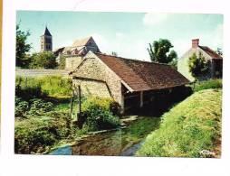 CERNY ( Essonne )  Le Grand Lavoir - L'Église - France