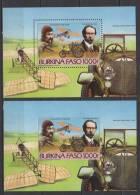 Burkina Faso  Bloc N° 28 Luxe **+ Bloc Non-Dentelé -- Voiture - Avion - Burkina Faso (1984-...)