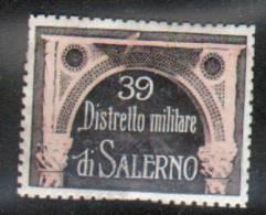 ERINNOPHILIE -VIGNETTE MILITAIRE: ITALIE SALERNE - 39 DISTRETTO DI SALERNO - Erinnophilie