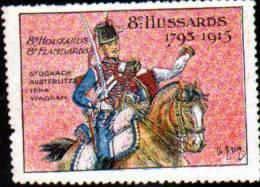 ERINNOPHILIE -VIGNETTE MILITAIRE:8e REGIMENT DE HUSSARDS - Commemorative Labels