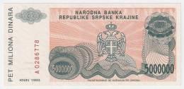 Croatia 5.000.000  Dinara 1993. UNC P-R24 - Croatia