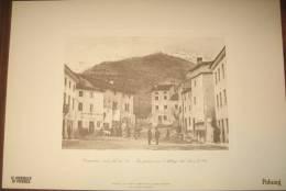 STAMPA -CRESPADORO - LA PIAZZA CON L'ALBERGO DEL LEON D'ORO  ( VICENZA) - Altre Collezioni