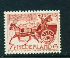 NETHERLANDS  -  1943  Stamp Day  Mounted Mint - Nuovi