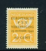 NETHERLANDS  -  1943  Postal Congress  Unmounted Mint - Nuovi