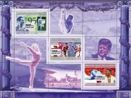 gu0711 Guinea 2007 Sports Olympic s/s Gymnastics Kennedy Boxing Judo Soccer