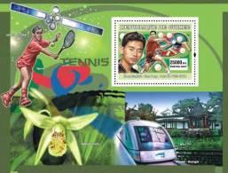 Gu0715c Guinea 2007 Sports Olympic S/s Beijing 2008 Tenni Space Table Tenni Train Orchid - Treni