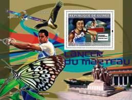 gu0720b Guinea 2007 Sports Olympic s/s Beijing Space Bird Butterfly