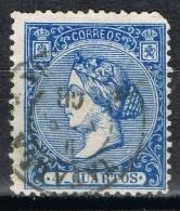 Sello 4 Cuartos Isabel II 1866, Fechador TAFALLA (Navarra), Num 81 º - 1850-68 Kingdom: Isabella II