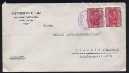 A1466) Costa Rica Brief Von San Jose 10.2.1935 Nach Chemnitz / Germany - Costa Rica