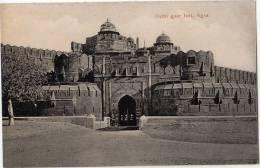 Vintage Postcard, Delhi Gate Fort, Agra, India (ref.#-2704e) - Inde