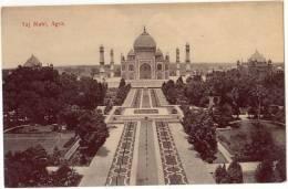 Vintage Postcard, Taj Mahl, Agra, India (ref.#-2717e) - Inde