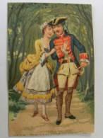 Chromo Couple Romantique Militaire Tricorne - Trade Cards