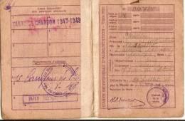 Rationnement/ Carte Individuelle D'Alimentation/Saint MAUR Des Fossés/Seine/ Vers 1943    OL35 - 1939-45