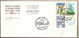 Italia - Busta Cpeciale: Centenario Del Trasporto Pubblico A Bologna - 1977 - Tramway - Bus