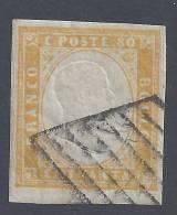 ITALIE - 1855/61 - SARDAIGNE - N° 14 - OBLITERE - B/TB - - Sardinia