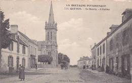 21643 Bretagne Pittoresque, Queven, Le Bourg, L'église -7226 Waron St Brieuc - Femme Enfant -! état ! - France